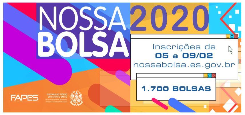 Inscrição para o Nossa Bolsa 2021