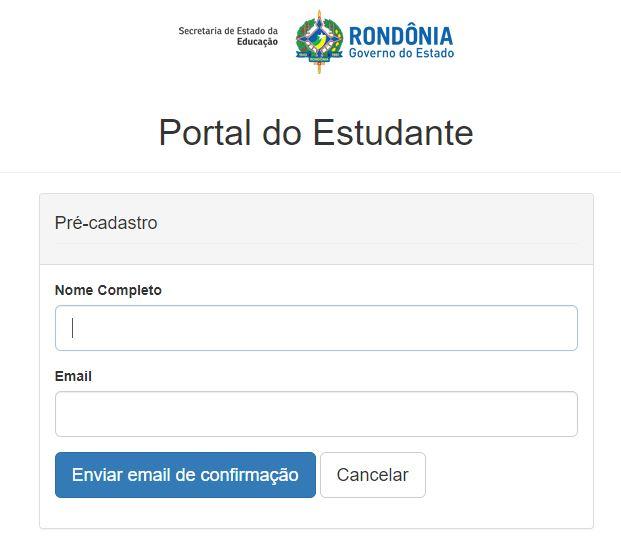 Portal do Aluno SEDUC RO