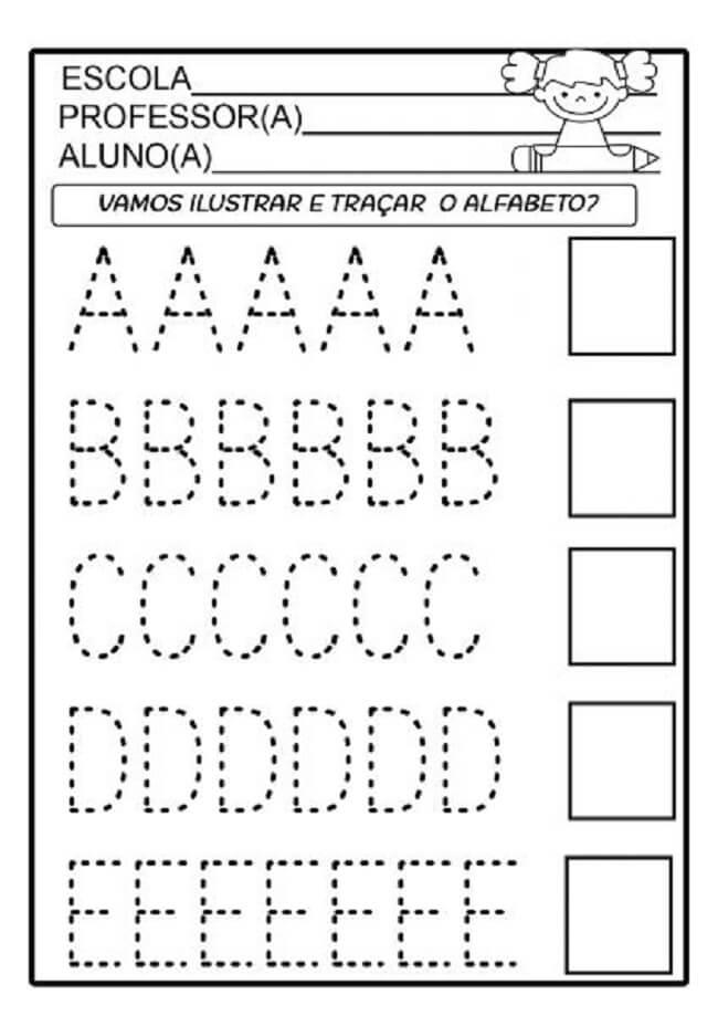 Alfabeto Pontilhado Para Imprimir Letra Bastao E Cursiva