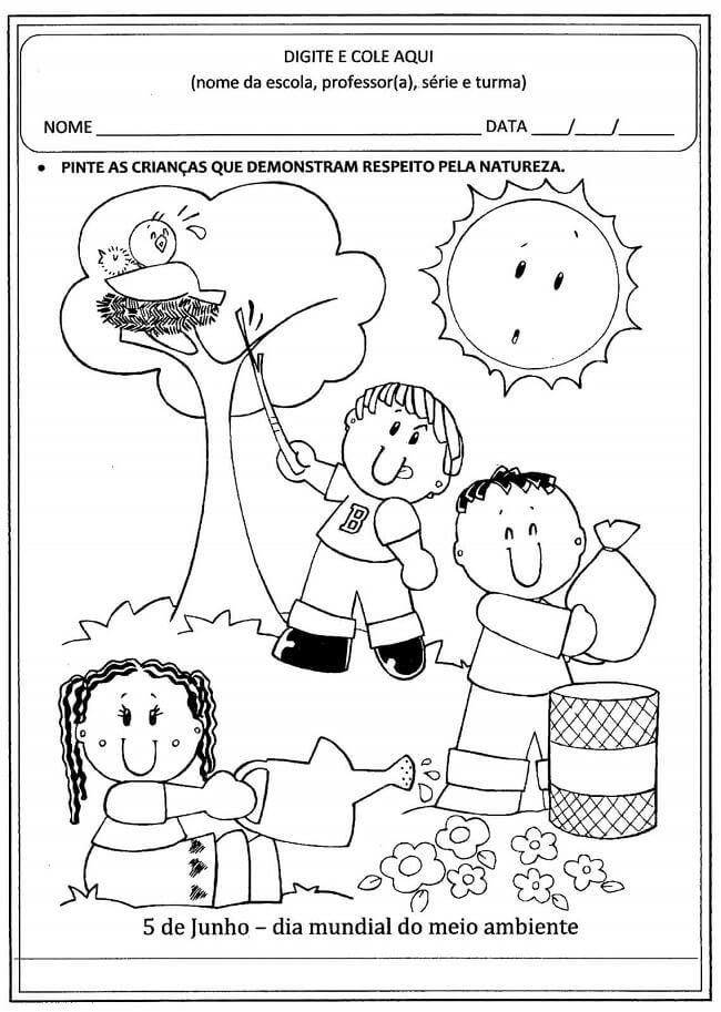 50 Atividades Sobre Meio Ambiente Para Educacao Infantil