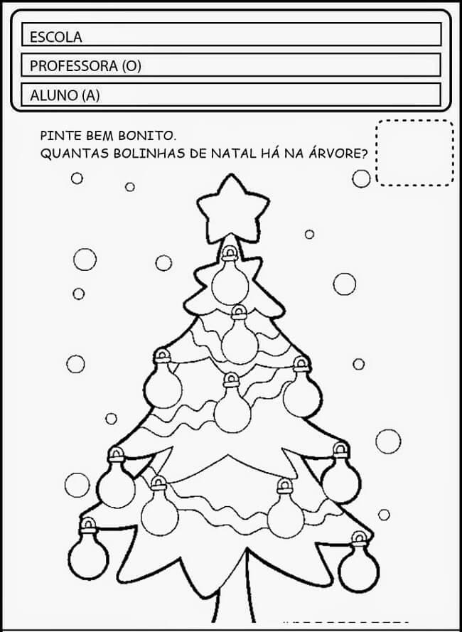 Atividades De Natal Para Imprimir Colorir Alfabetizacao