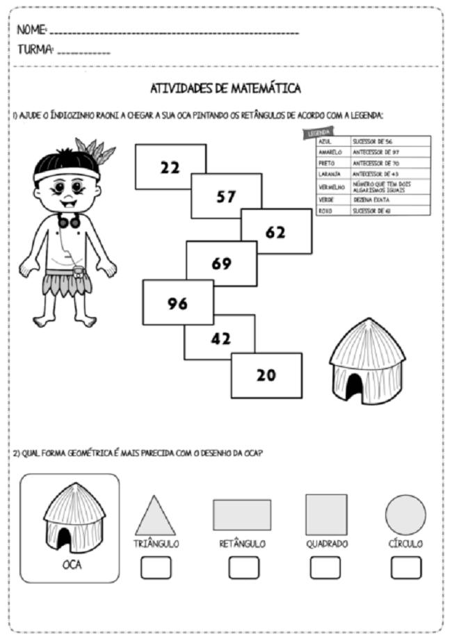 Atividades Para Dia Do Indio 2020 Bercario Educacao Infantil