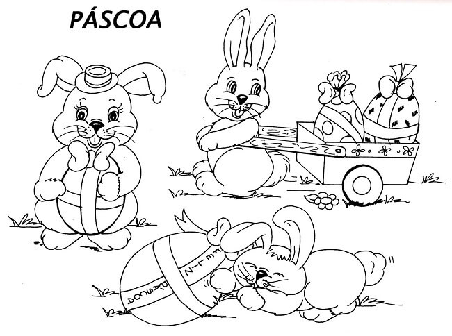 Atividades De Pascoa Para Imprimir Colorir Alfabetizacao