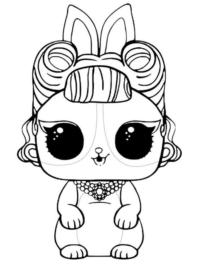 Desenhos Para Colorir Lol Bebê Pets Raros