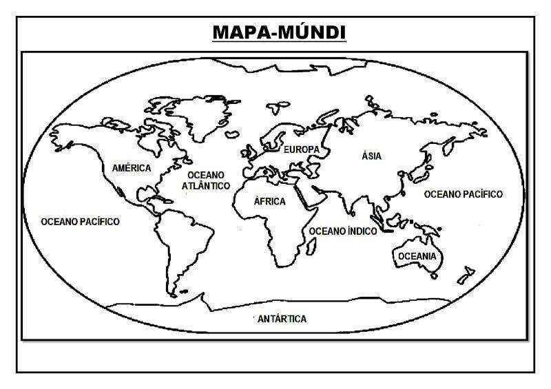 Mapa para Colorir