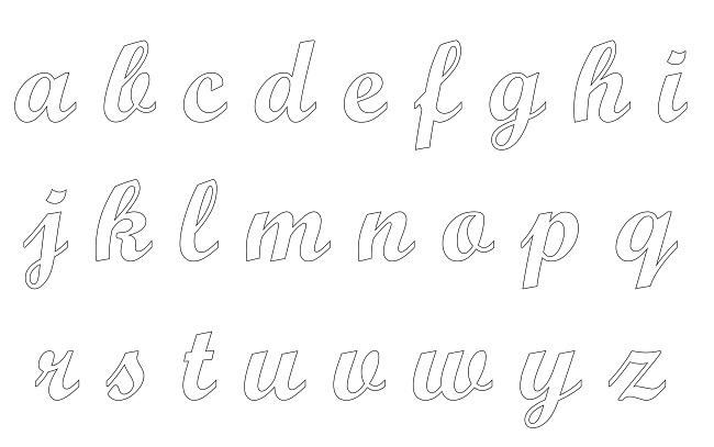 Moldes De Letras Cursivas Para Imprimir Alfabeto Cursivo