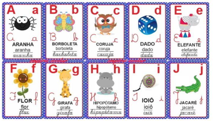 Alfabeto Cursivo Ilustrado