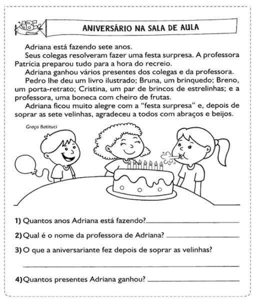Texto Infantil para Interpretação
