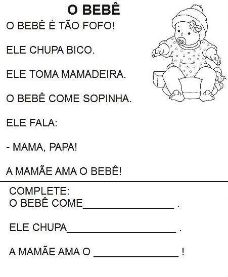 Texto Infantil para Alfabetização