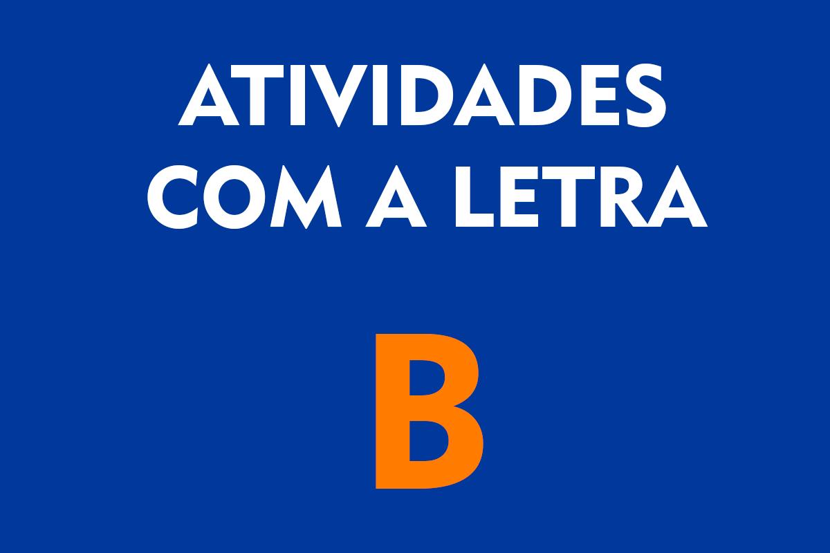 Atividades com a Letra B